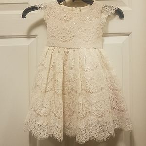 Lace flower girl dress size 3T
